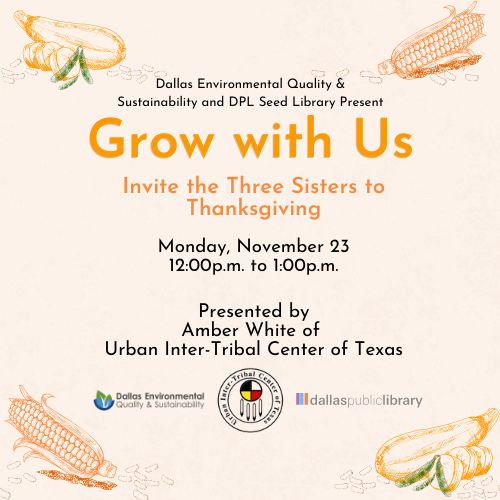 Grow with Us - Invite the Three Sisters to Thanksgiving Cover Graphic