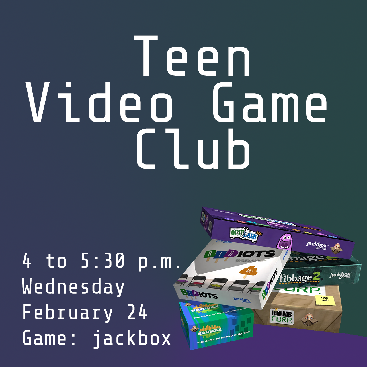 Teen Video Game Club - Jackbox Games